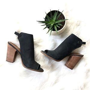 Lucky Brand Linza Leather Peep Toe Sling Back Heel